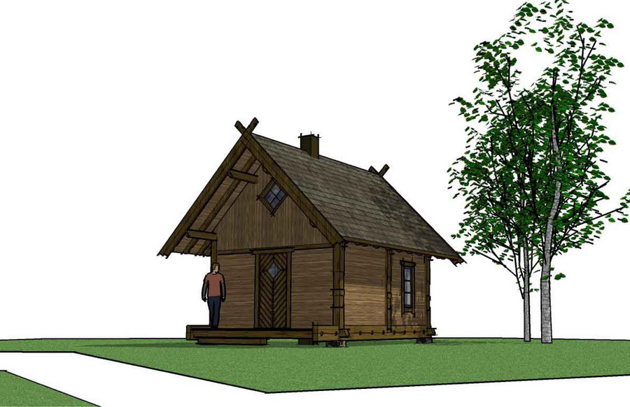 смотреть фото дома на деревьях